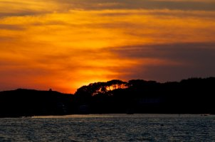 sky burning at sunshine on Batz island jpg